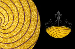 Hand painted glass chandeliers artwork lighting ulla darni vienna thin purple chandelier aloadofball Images