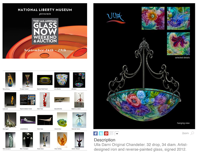 Ulla Darni Chandelier Auctioned at National Liberty Museum
